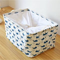 Large Canvas Bucket Drawstring Port Dirty Clothes Laundry Basket Foldable Storage Organizer Household Sundries Bag New Patterns