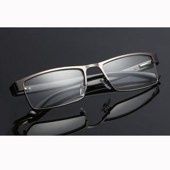 High Quality MEN Titanium alloy Eyeglasses Non spherical 12 Layer Coated lens reading glasses +1.0 +1.5 +2.0 +2.5 +3.0 +3.5+4.0 10