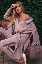 Женский трикотажный костюм из 2 предметов шерстяной кашемировый