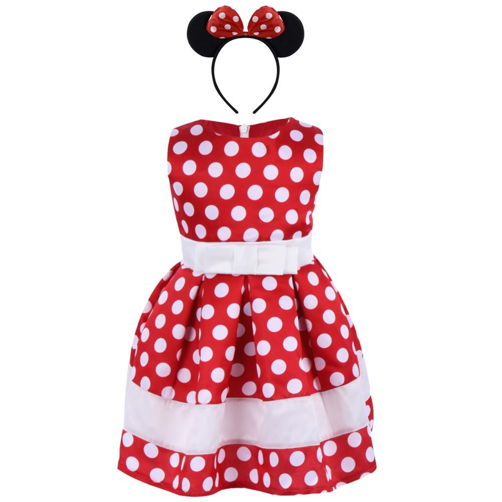 Toddler Baby Girl Fancy Birthday Party Outfits Short Sleeve Tops+Polka Dots Shorts+Mouse Ear Cake Smash Clothes