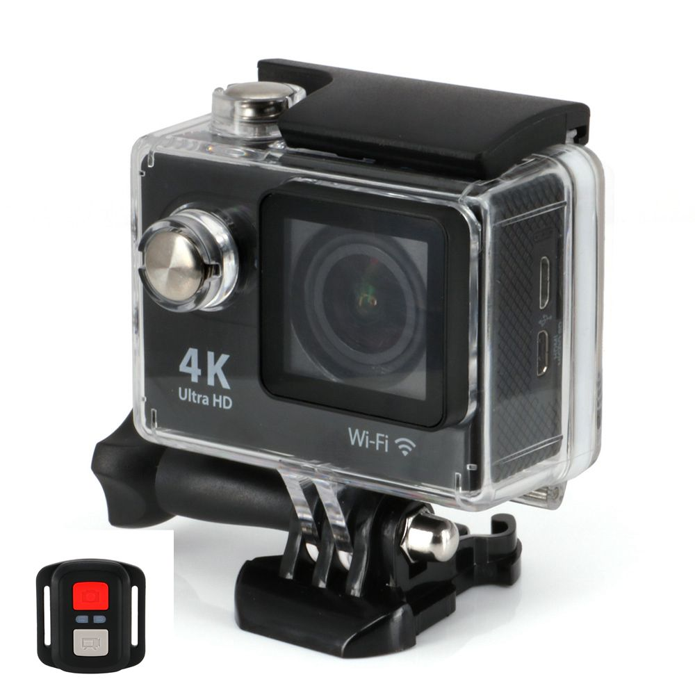 Upgrated 4K H9R WIFI Action Cameras 2.4G Remote Control Ultra Full HD 1080P 2 LCD Sports Video Camera Camcorders Helmet Cam gitup git1 1 5 inch lcd wifi rf control action camera