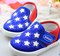 Baby Shoes Baby Boys First Walkers Stars Soft Sole Sneakers Infant Toddler Girls Casual Canvas Shoes for 0-3 years