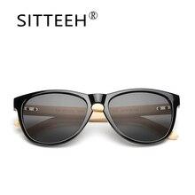 SITTEEH piernas de bambú al aire libre gafas de Sol de Moda gafas de sol para mujeres de los hombres gafas de sol oculos lunette de soleil hombre SI59
