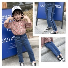 toddler denim girls skinny jeans kids elastic ripped selvedge pants baby fashion children clothes