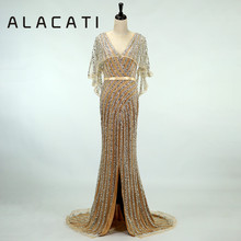 ALacati golden female 2019 fishtail noble evening dress