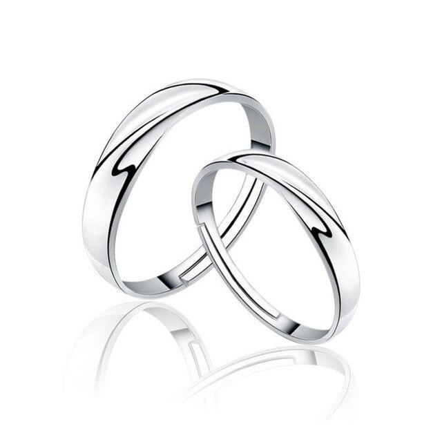 65a7b9cb7ed6 Новая Мода Ювелирные Изделия Стерлингового Серебра 925 Кольца Пара Для  Женщин Женский Обручальное Кольцо Обручальные Кольца