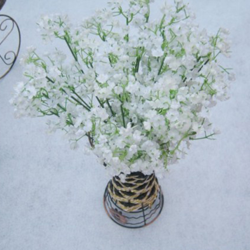 Rustic Artificial Flowers White Gypsophila 7
