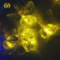 New Arrival 10M 100leds Butterfly 9 Colors LED String Novelty Lights Holiday Wedding Event's Party Lightings 110V 220V US EU