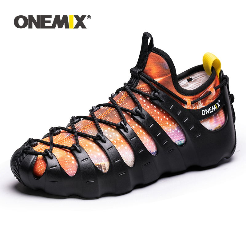 Onemix Summer Functional Rome Running Shoes 1 Shoes 3 Wear Breathable Black Sneakers Two-Piece Yoga Shoes Water Diving ShoesOnemix Summer Functional Rome Running Shoes 1 Shoes 3 Wear Breathable Black Sneakers Two-Piece Yoga Shoes Water Diving Shoes