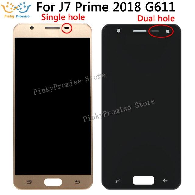 G611 lcd עבור סמסונג גלקסי J7 ראש 2 2018 G611 LCD תצוגת Digitizer מסך מגע עצרת החלפת חלק עבור G611 g611FF/DS