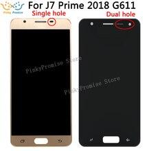 G611 samsung LCD Galaxy J7 Başbakan 2 2018 G611 lcd ekran Sayısallaştırıcı Dokunmatik ekran takımı değiştirme parçası G611 G611FF/DS