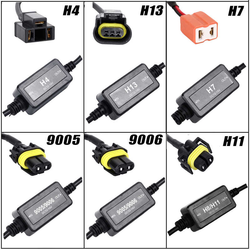 Oslamp Error Free Canbus Decoder for LED Headlight for Car SUV Led Car Bulb  Lamps Can-Bus H4 H7 H8 H11 H13 9005/HB3 9006/HB4