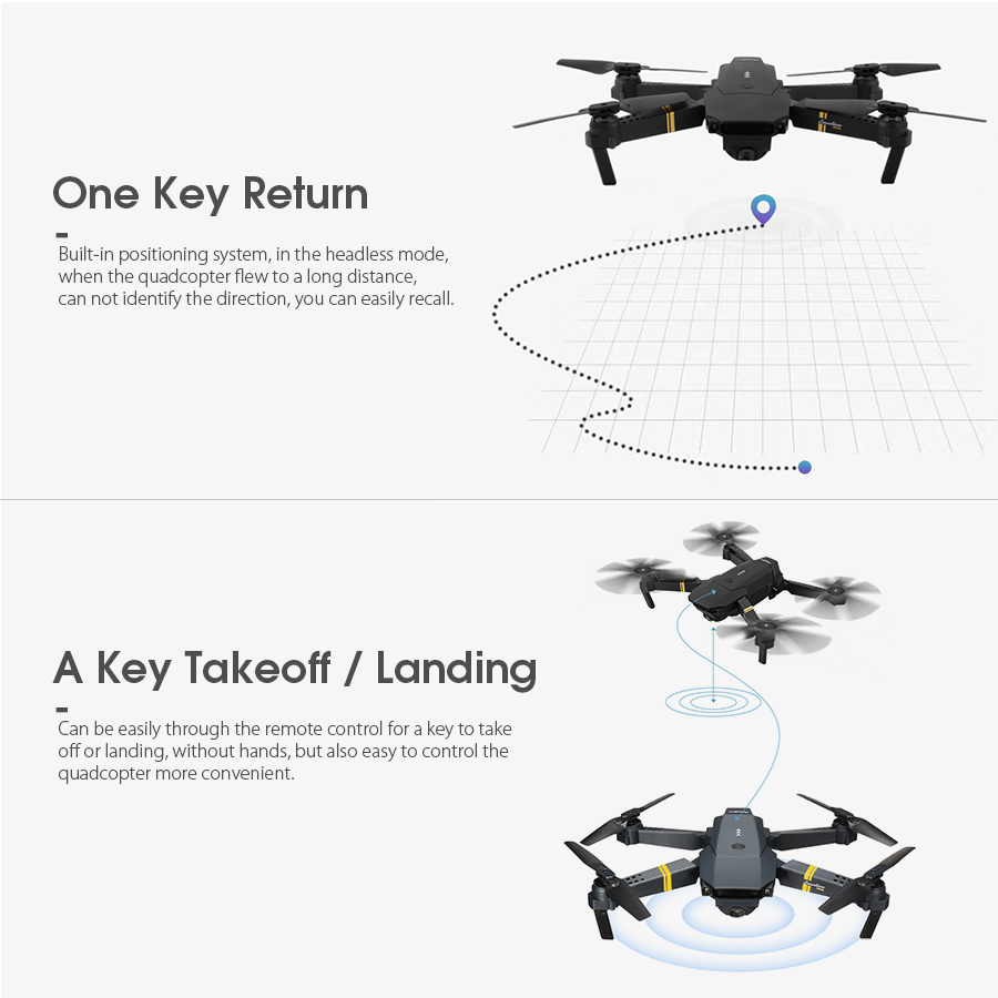 Eachine E58 WIFI FPV with 720P/1080P Wide Angle HD Camera 14