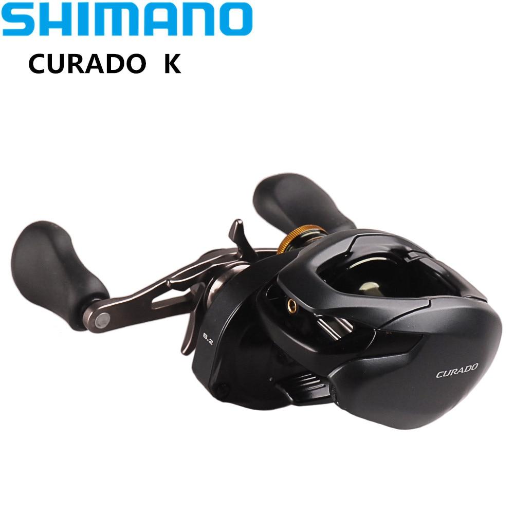 100% Original SHIMANO CURADO K Low Profile Fishing Reel 6+1BB/8.5:1 Micromodule Gear Hagane Body Casting Reel Moulinet Peche shimano curado 201 ihg