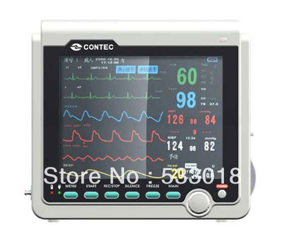 Multi 6 Parameters ICU Patient Monitor ECG NIBP Pulse Rate SPO2 Respiration Temperature Vital Signs Monitor ботинки для мальчика reima черные
