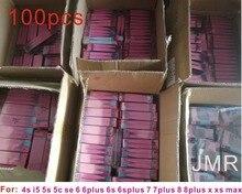 100 pièces/lOriginal Batterie Autocollant Adhésif Pour iPhone XS XR MAX X 4 5s 5c 6 6s 7 8 plus Batterie Ruban Adhésif Bande Remplacement Détiquette