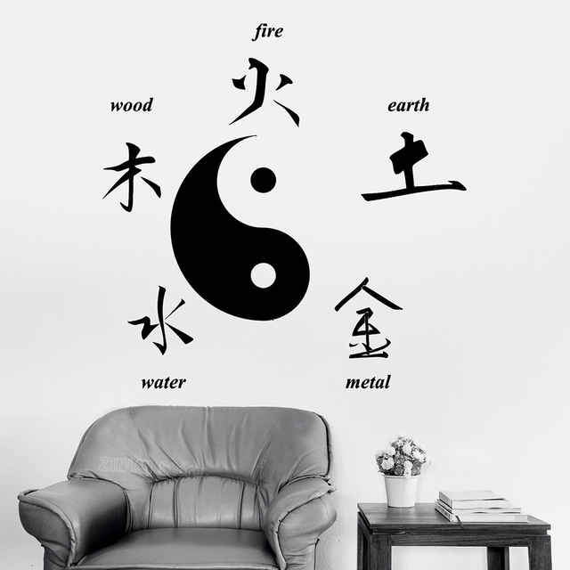 Chinese Taoist Culture Wall Stickers Home Decor Buddha Chinese Signs