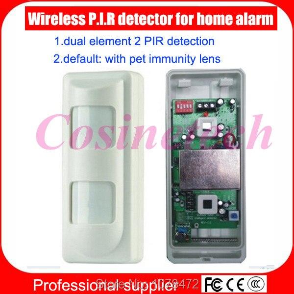 Capteur PIR immunitaire sans fil pour animaux de compagnie à usage extérieur, détection double élément 2 PIR, détecteur de capteur de mouvement infrarouge pour alarme domestique