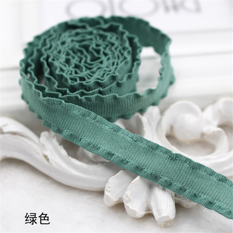 2m roll Width 10mm Diy Hair Accessories Crushed Ruffle Grosgrain Webbing For Hair Cloth Falbala Flouncing Corrugated Edge Ribbon in Ribbons from Home Garden