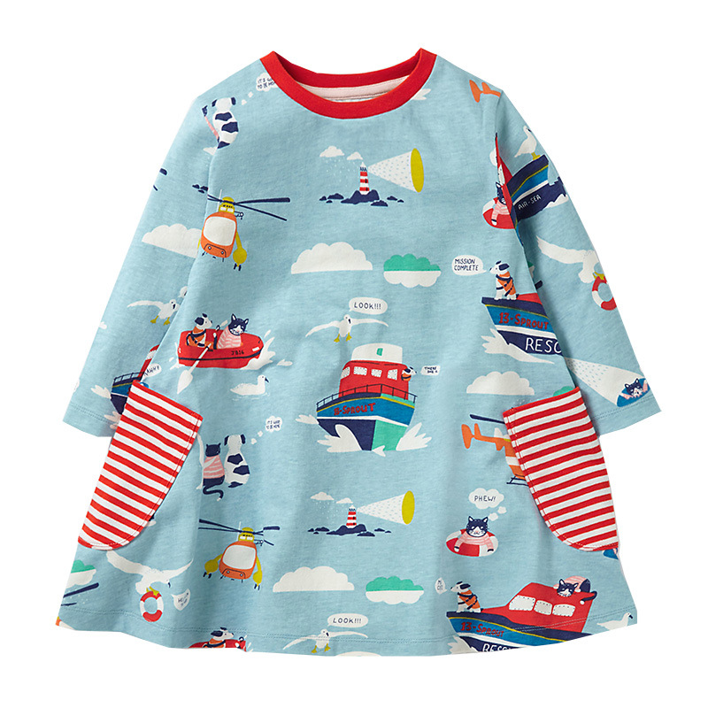 SALE Baby Girl Dress Kids Clothes Autumn Princess girls Dresses baby clothes cotton long sleeve tunic party dress free shipping girls princess dress new white casual lapel cotton baby girl dresses long sleeve clothes kids party small bee vestidos