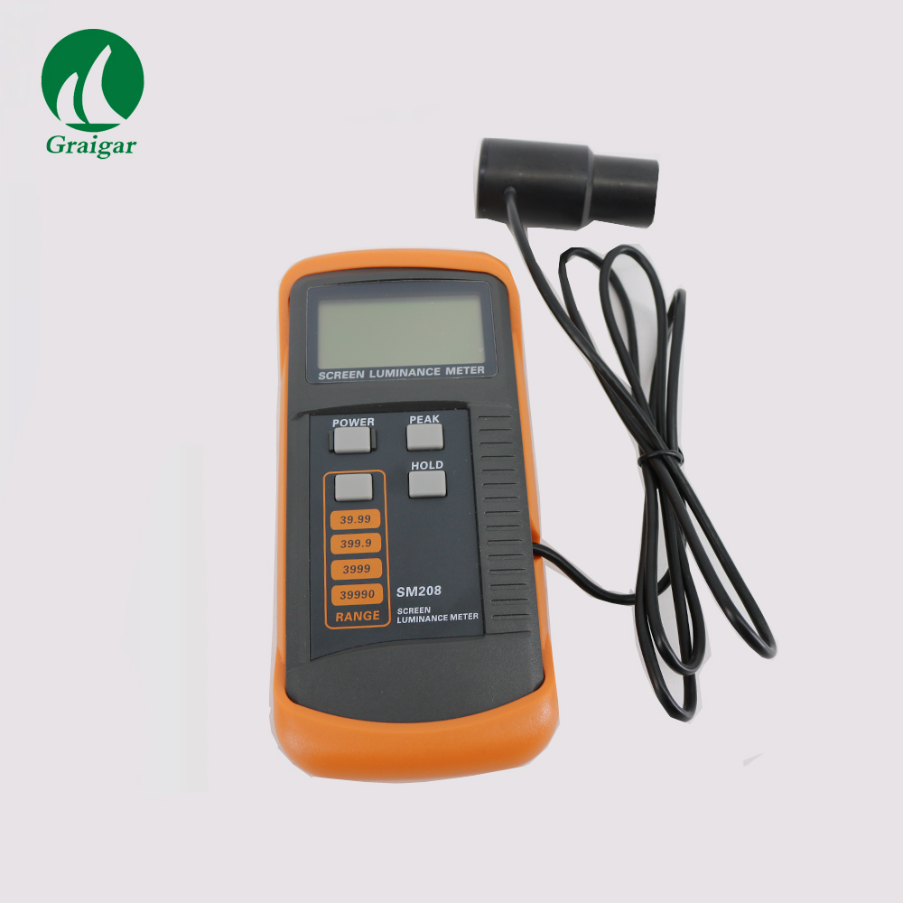 High Stability SM208 Digital Screen Brightness Meter Measuring Range 0.01-39990cd/m2High Stability SM208 Digital Screen Brightness Meter Measuring Range 0.01-39990cd/m2