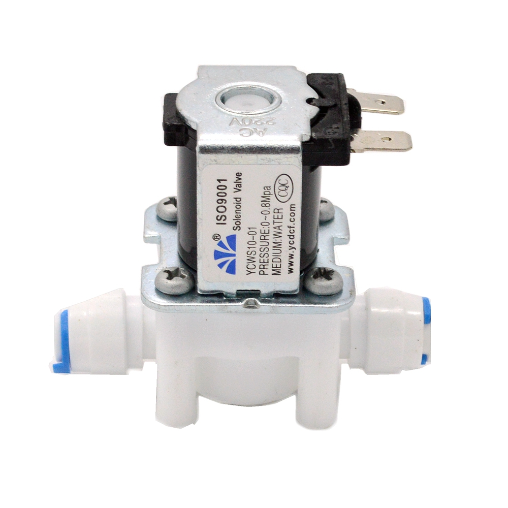 Durable Electric Solenoid Valve Quick Connection for Water Purifier 24VDC N//C