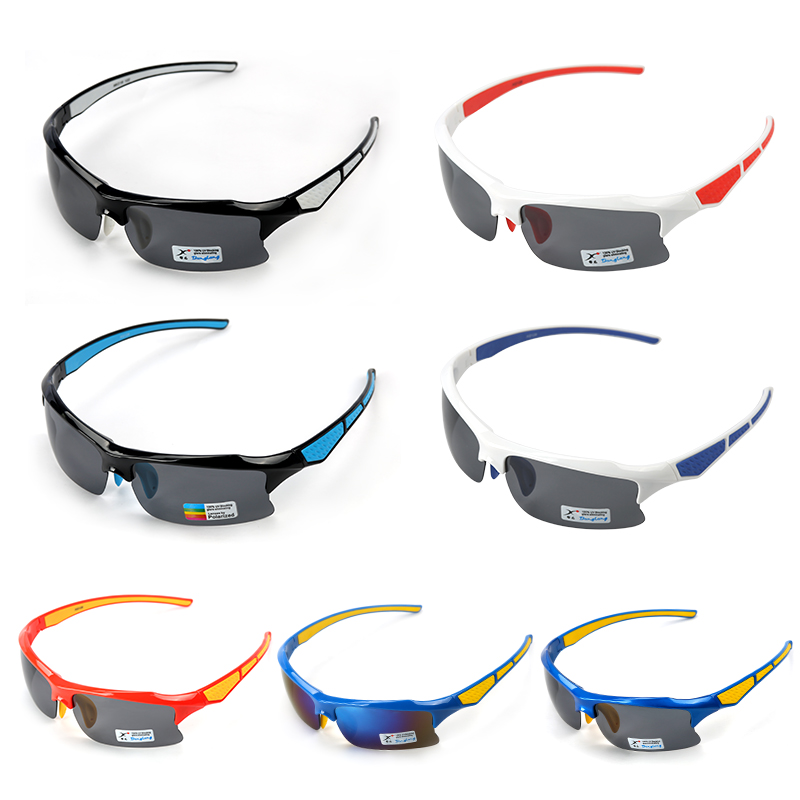 Firelion 2018 New Outdoor Cycling Professional Goggles Sports Glass Sunglasses Gray Polarized Lens Anti-UV PC Material 7 Colors