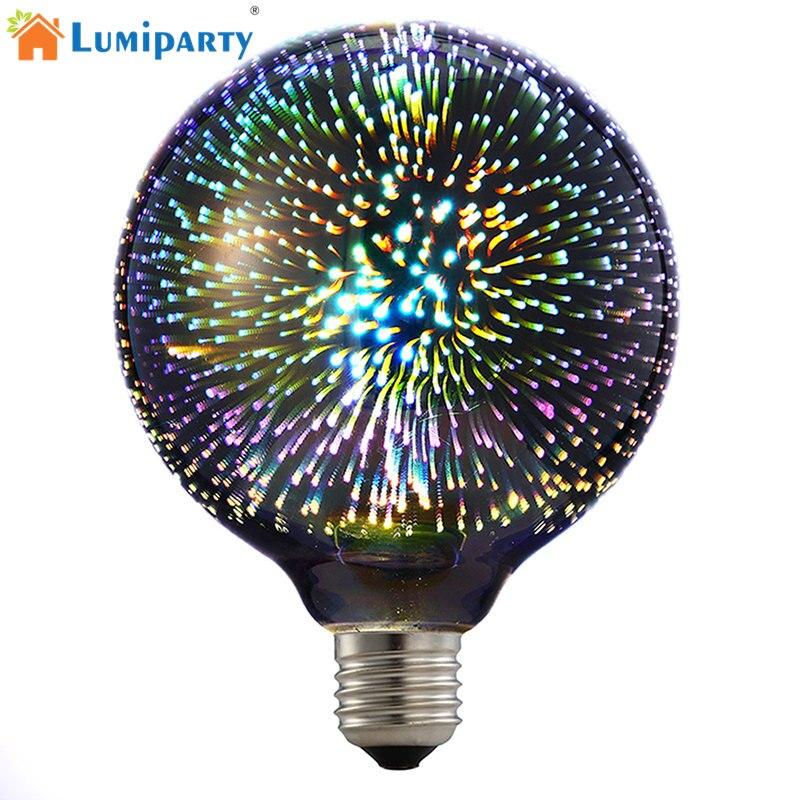 E27 3D LED Lumière Ampoule Étoiles 4 w G95 Edison Lumière de Nuit Coloré Rétro Verre Lampara Ampoule De Noël Décor À La Maison feu d'artifice RVB