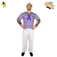 Popular Adult Menu0027s 3D Digital Printing T-Shirt Sailor Clothes Carnival Party Fancy Dress Cosplay  sc 1 st  AliExpress.com & Buy sailor fancy dress men and get free shipping on AliExpress.com