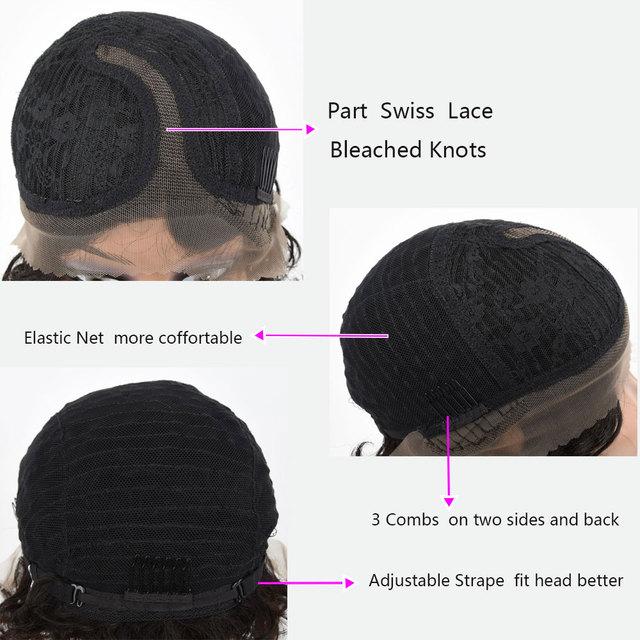 Pelucas de cabello humano Pelo corto, rizado, para mujeres negras