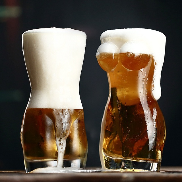 Torso Shaped Double Wall Beer Mug