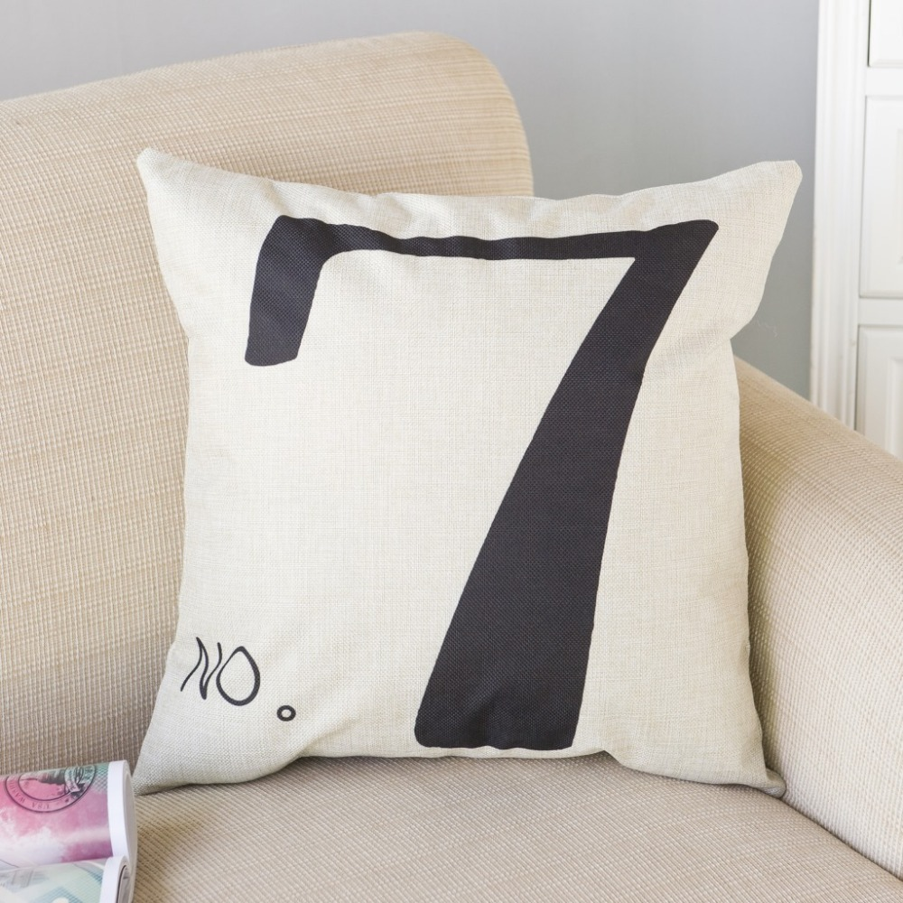 office nap pillow. 45*45cm Lucky Number Seven Pillow Cover Cotton\u0026Linen Cushion Office Nap Throw Case UIE517-in From Home \u0026 Garden On Aliexpress.com D
