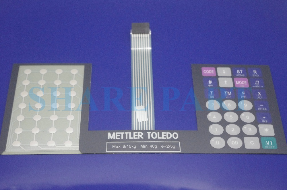 1 X For METTLER Toledo 3600 English Scale Keyboard Film for Toledo 3600 3650 3680 aaa new for mettler toledo tiger 8442 x6xx pro main board 3660 electronic scale part electronic scale accessories