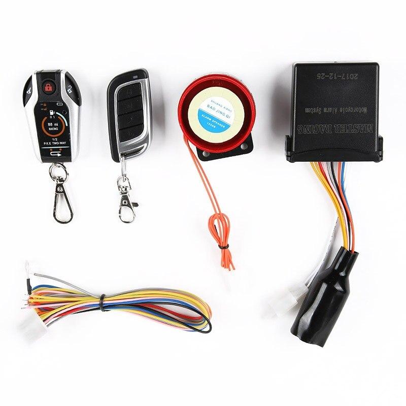 Système d'alarme moto 2 voies Scooter Anti-vol sécurité alarme antivol démarrage à distance du moteur arrêt système de localisation à distance