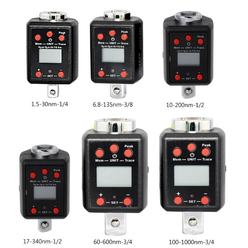 Numérique Haute Clé Dynamométrique Adaptateur 1/4 3/8 1/2 3/4 Lecteur Microtorque 1.5-30nm/6.8-135nm/10-200nm /17-340nm/60-600nm/100-1000nm