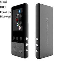 Металл Bluetooth MP3 плеер 8 ГБ 1,8 дюймов Экран воспроизведения музыки 70 h с FM радио E-Book аудио-видео плеер MP3 WMA, WAV, OGG APE