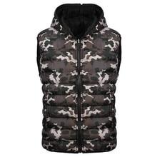 Mens Clothing Winter Sleeveless Jackets Thickening Fashion Warm Coats Casual Camouflage Printed Mens Down Waistcoats A5070