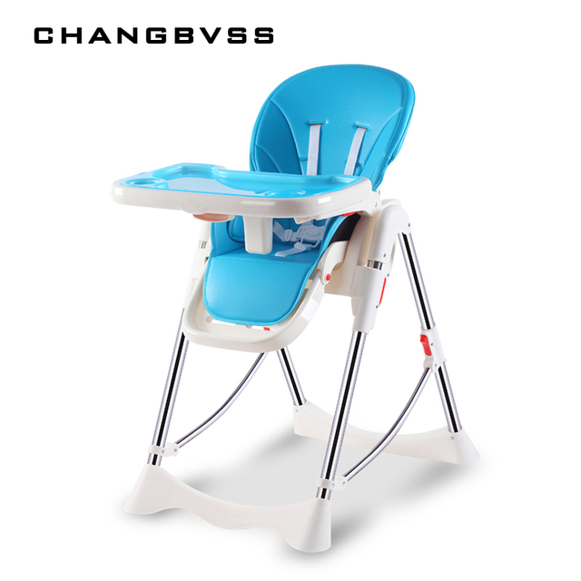 Baby High Chair For Kids Adjustable Feeding Chair With PU Leather Cushi on Dining Table With multi-function Highchair Foldable .