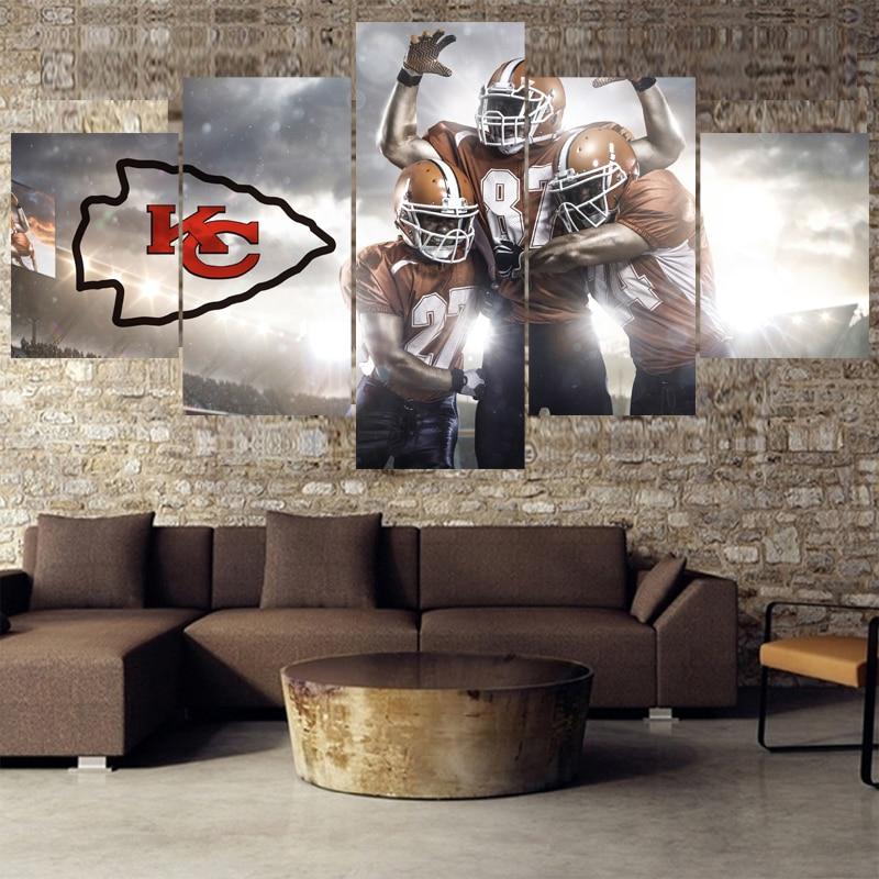 Hot Football Paintings Kansas City Chiefs Modern Home ...