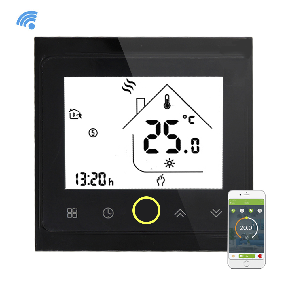 Wifi Thermostat For Boiler Heating Programmable LCD Display Smart WIFI Temperature Controller Works With Alexa For Voice ControlWifi Thermostat For Boiler Heating Programmable LCD Display Smart WIFI Temperature Controller Works With Alexa For Voice Control