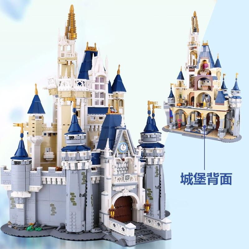 LEPIN 16008 Cinderella Princess Castle City Model Building Block DIY Toys Birthday Gifts Compatible With lego 71040 4080 pcs lepin 16008 lepin cinderella princess castle building block compatible legoing 71040 legoing cinderella princess castle set