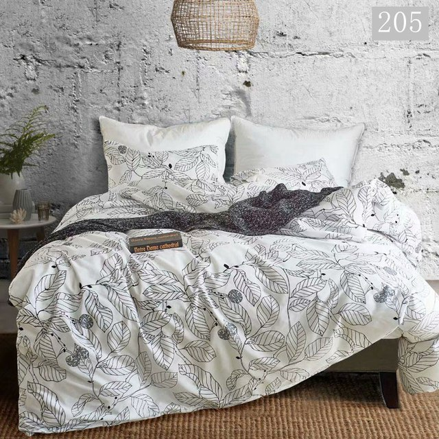 Nordic Bedding Sets Russia Europe Queen King Double Luxury Duvet Cover Set 220/240 Family Linen Set Bedclothes Leaf