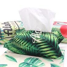 цена на 18x23.5cm Cotton linen paper napkin Tropical rainforest style bag party flamingo table napkin bag home DIY decoration bag