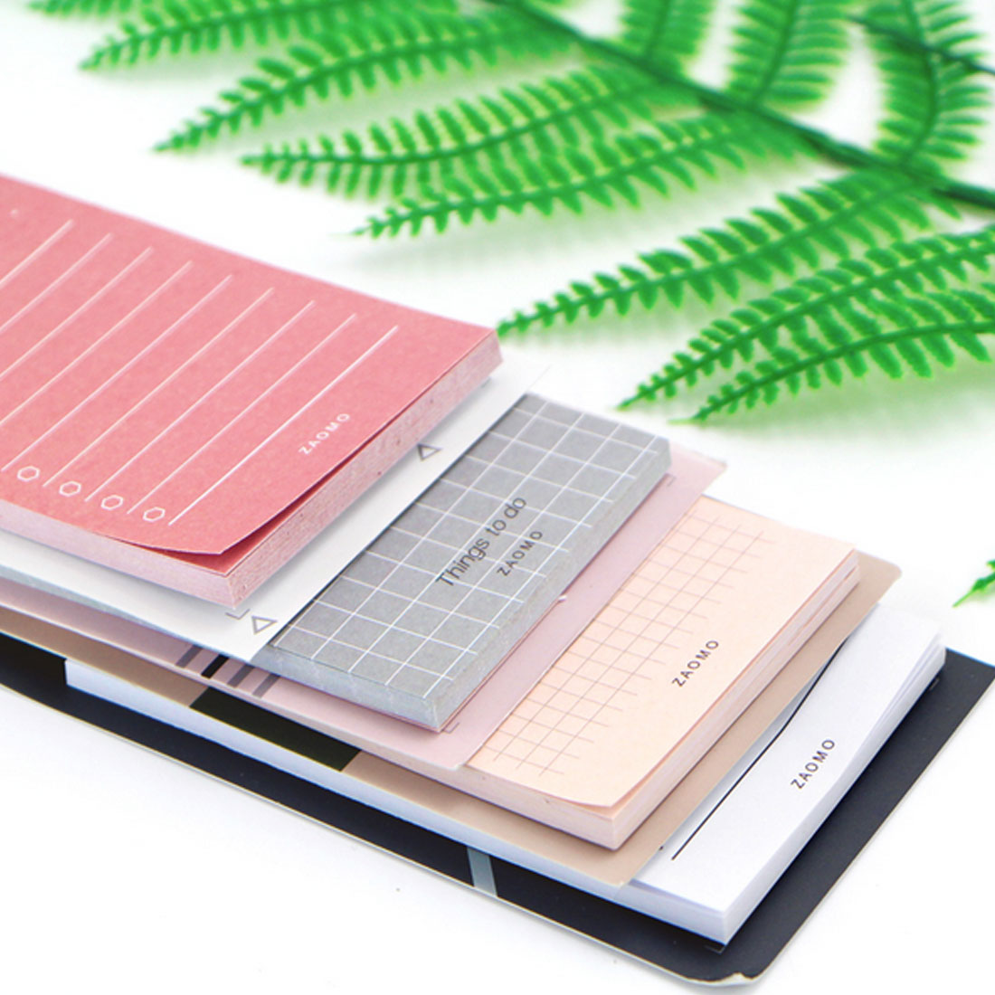 Simple Kraft Paper Horizontal Line Small Note Book Candy Color Square Message Note Repeatedly Posted Sticky Note