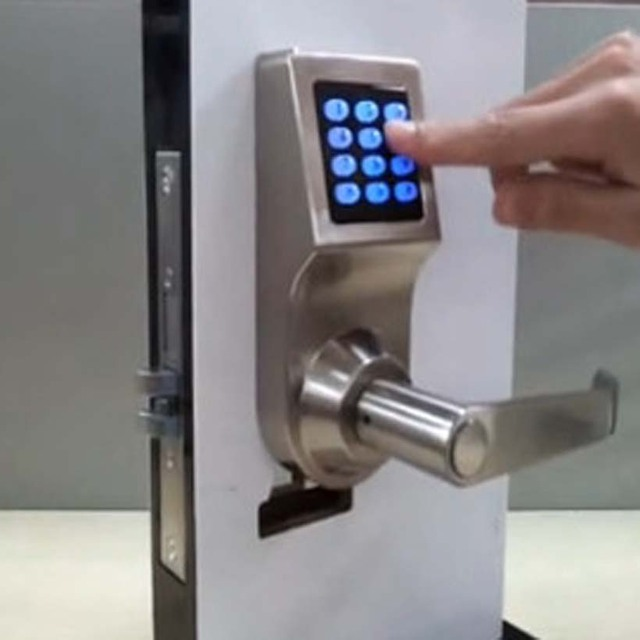 digital office door handle locks. Easy Install Safe Security Digital Password Key Induction Card Door Lock Home Hotel Office Handle Locks R