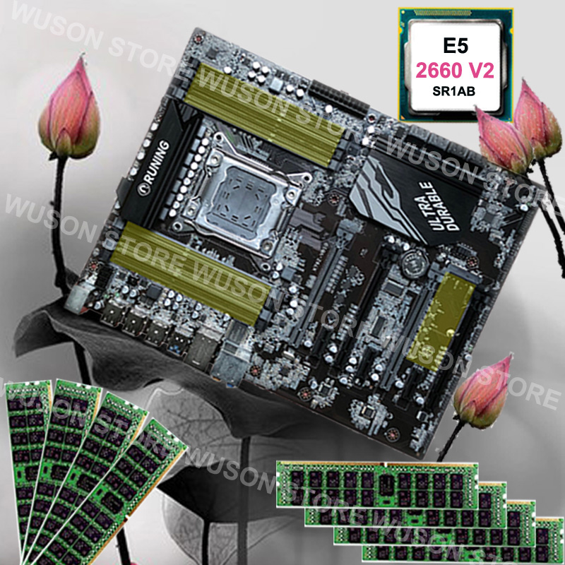 Buy computer hardware Runing Super X79 motherboard max 8*16G 1866 memory CPU Xeon E5 2660 V2 SR1AB RAM 128G(8*16G) 1866MHz RECC