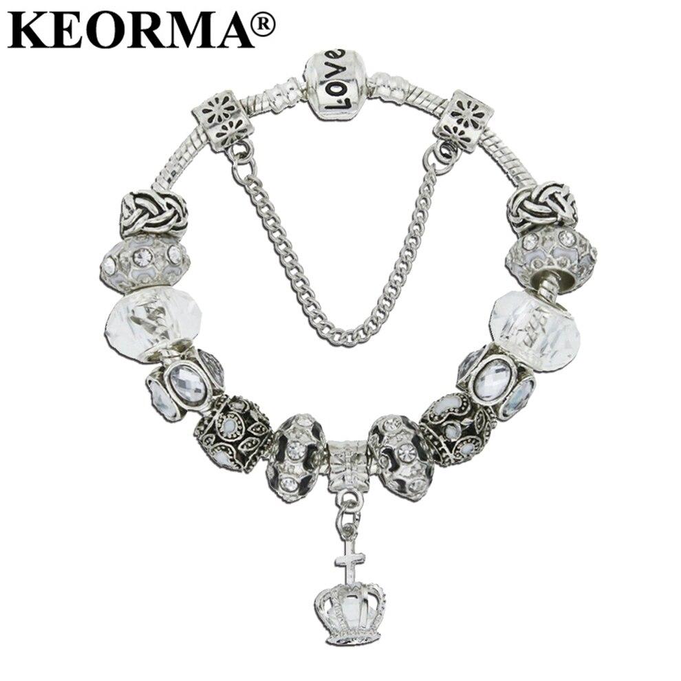 KEORMA Women Bracelet Jewelry New Type Big Hole Beads