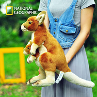 National Geographic stuffed kangaroo mother and child toys birthday gifts