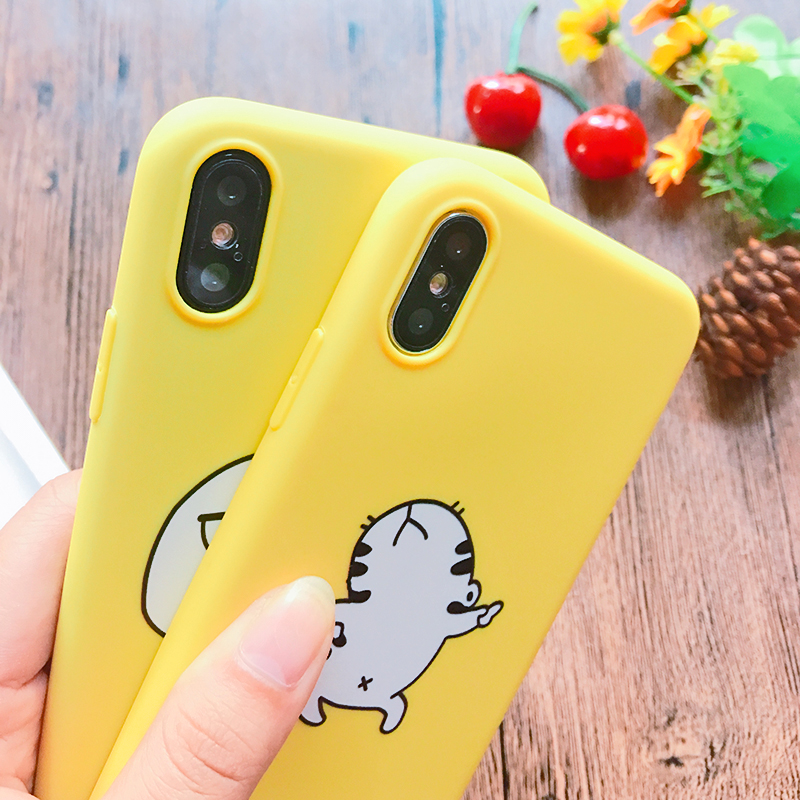 Funny Cartoon Giraffe Phone Case For iPhone 7 8 Plus TPU Silicone Back Cover for iPhone X XR XS Max 6 6S Plus 5 5S SE Soft Case (6)