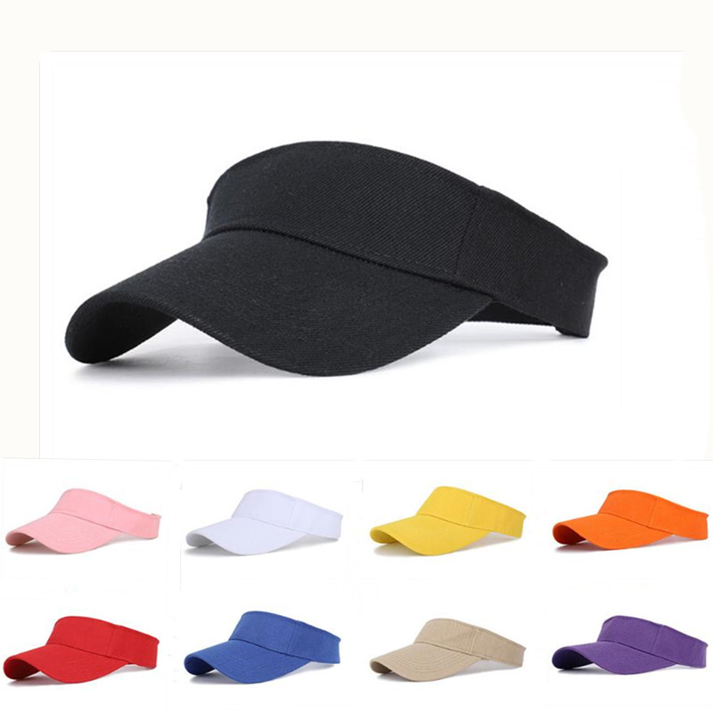 Tennis Caps Men Women Adjustable Sport Headband Classic Sun Sports Visor Hat Running Caps Tennis Beach Hat Outdoor Sports Hat